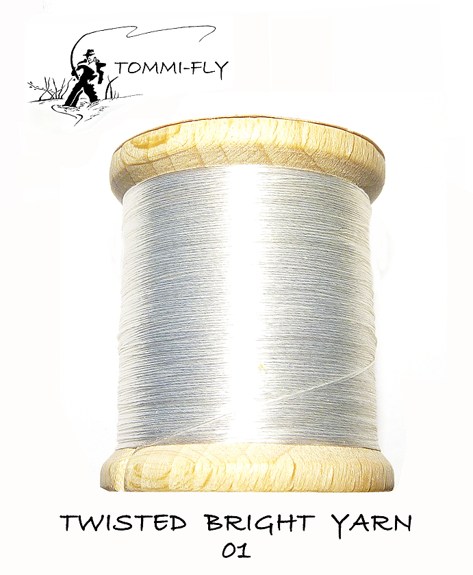 Twisted bright yarn - Bílá - TBY01