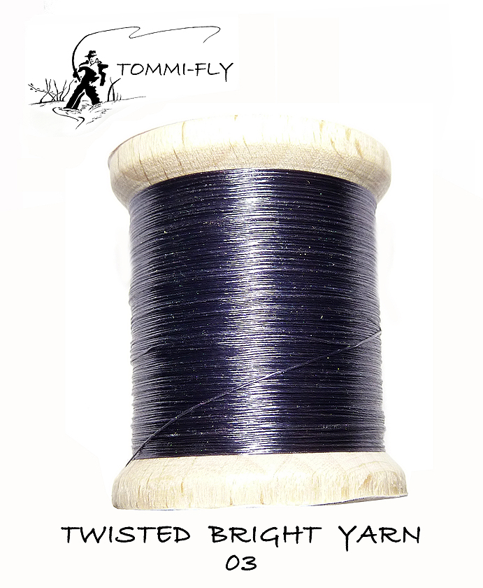 Twisted bright yarn - tm.šedá - TBY03