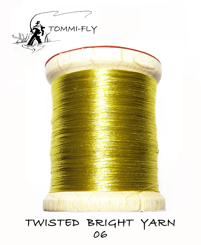 Twisted bright yarn - olivová - TBY06