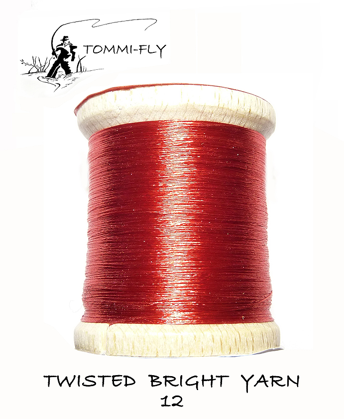 Twisted bright yarn - Červená - TBY12