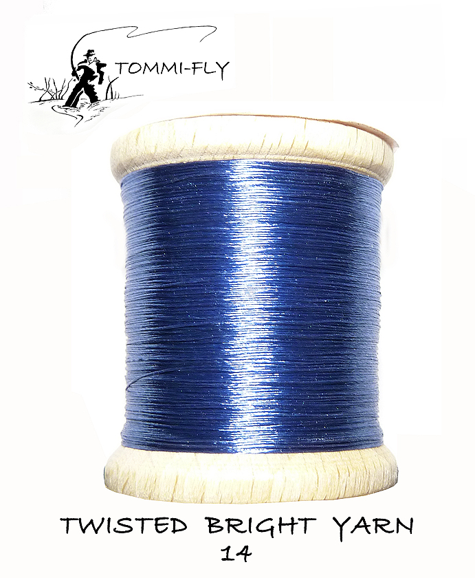 Twisted bright yarn - Modrá - TBY14