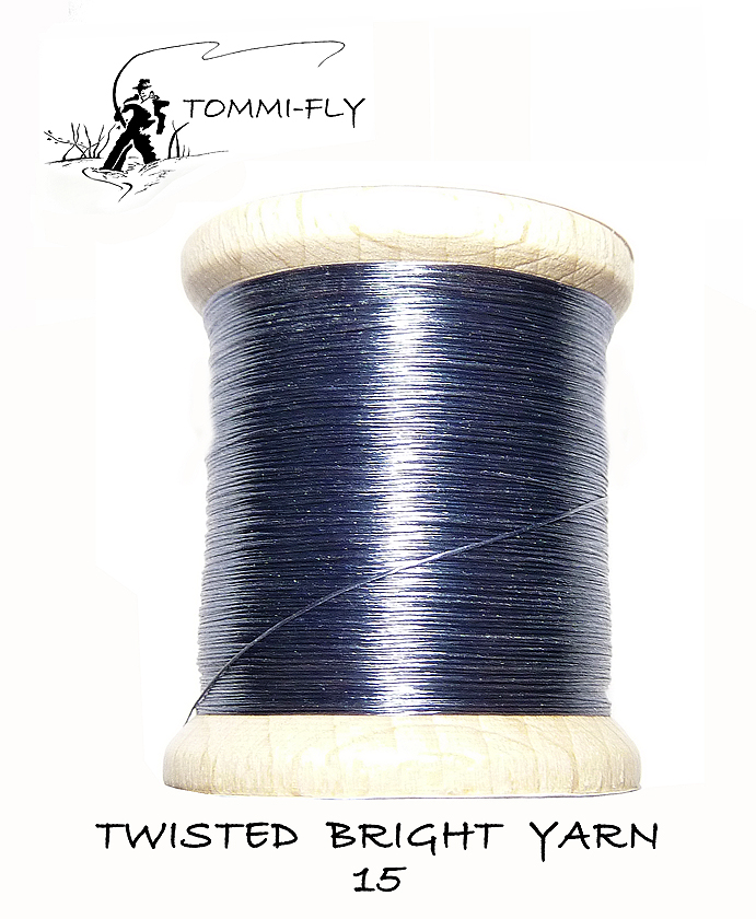 Twisted bright yarn - stř.šedá - TBY15
