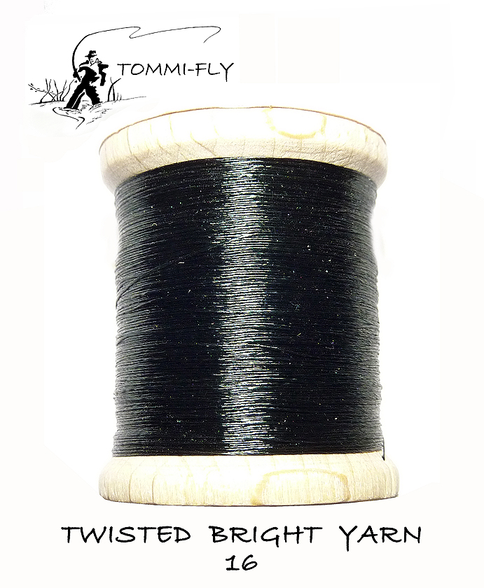 Twisted bright yarn - paví zelená - TBY16