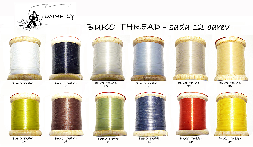BUKO THREAD - set 12 barev