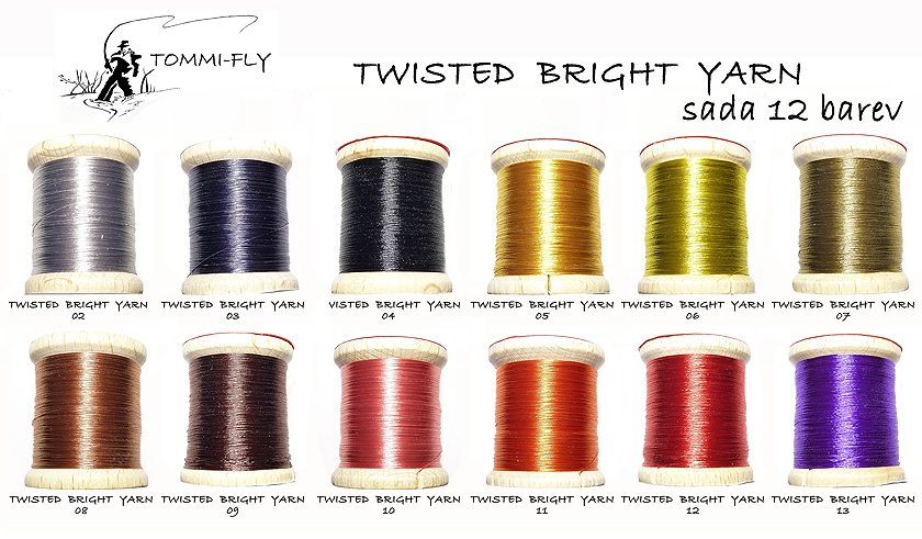 TWISTED BRIGHT YARN - sada 12 barev