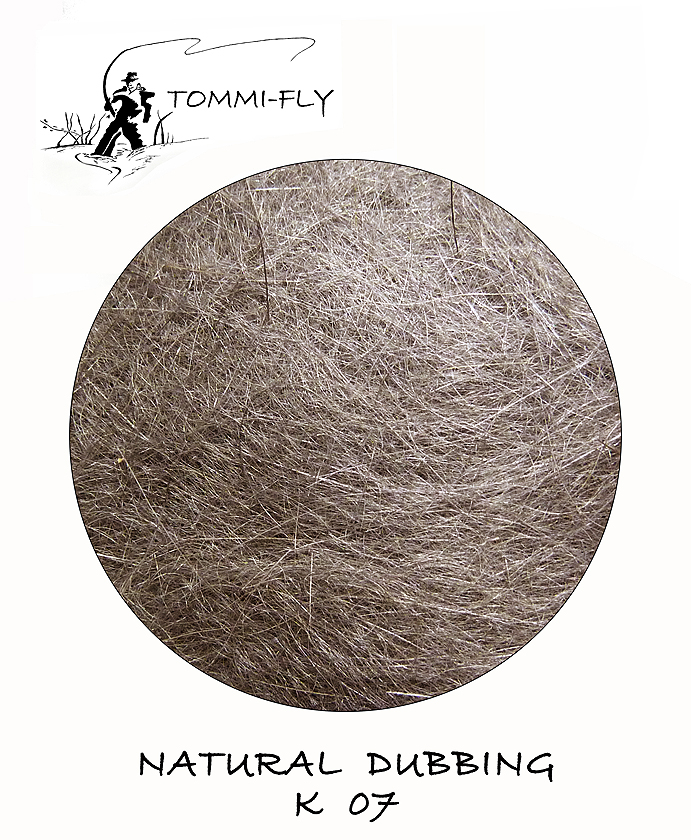 NATURAL DUBBING - RABBIT - šedý