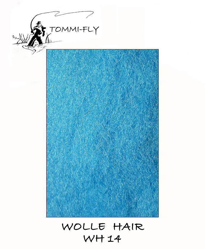 Wolle hair - tyrkysová