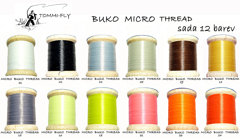 MICRO BUKO THREAD - set 12 barev