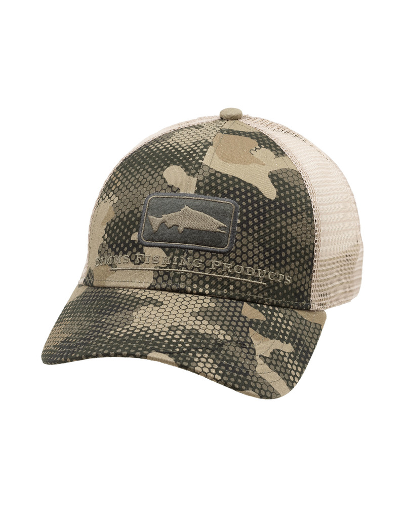 Simms Kšiltovka Salmon Icon Trucker Hex Flo Camo Timber