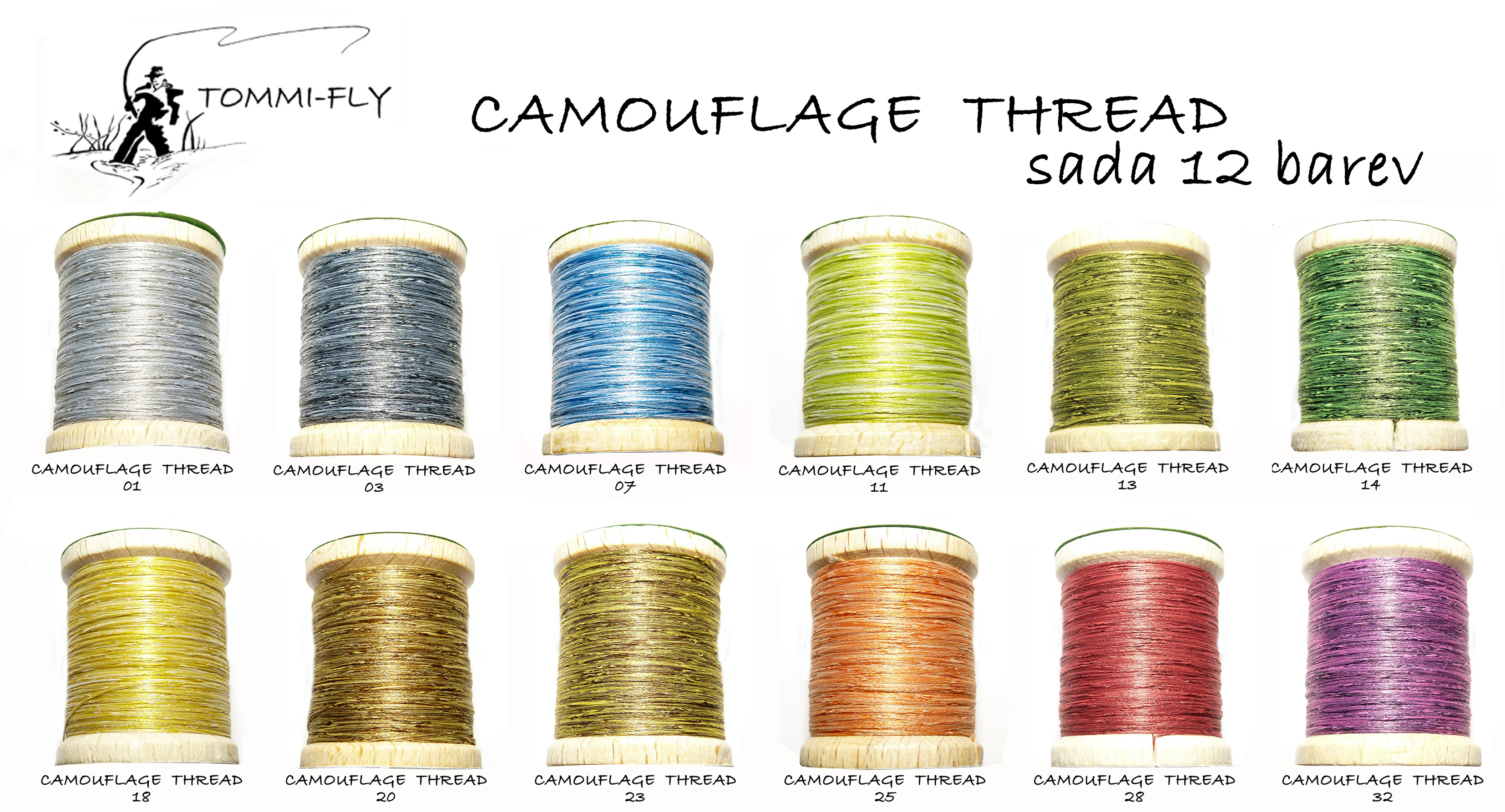 CAMOUFLAGE THREAD - set 12 barev