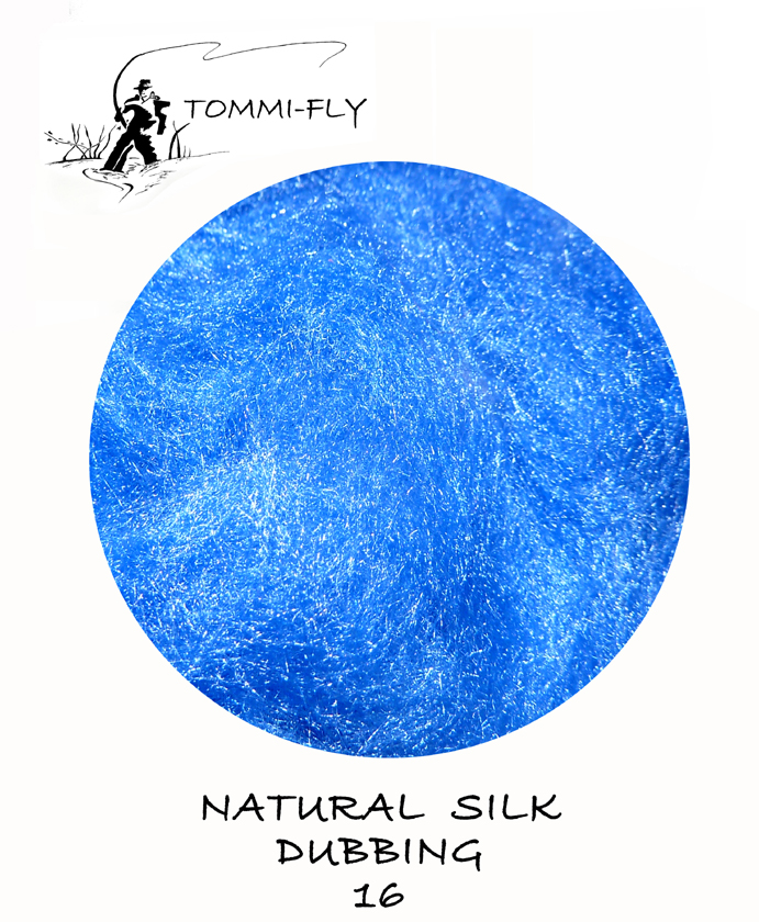 Natural SILK dubbing - modrá