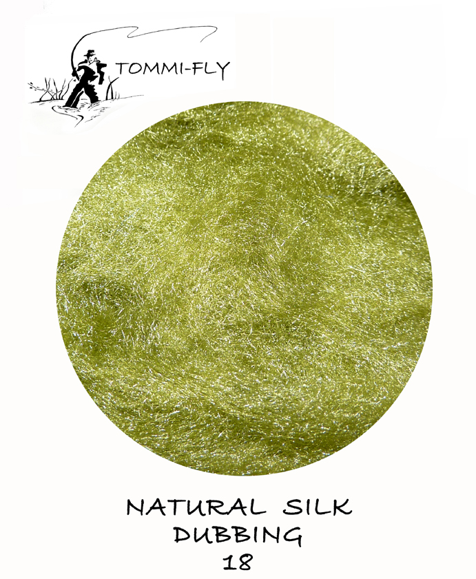 Natural SILK dubbing - olivová
