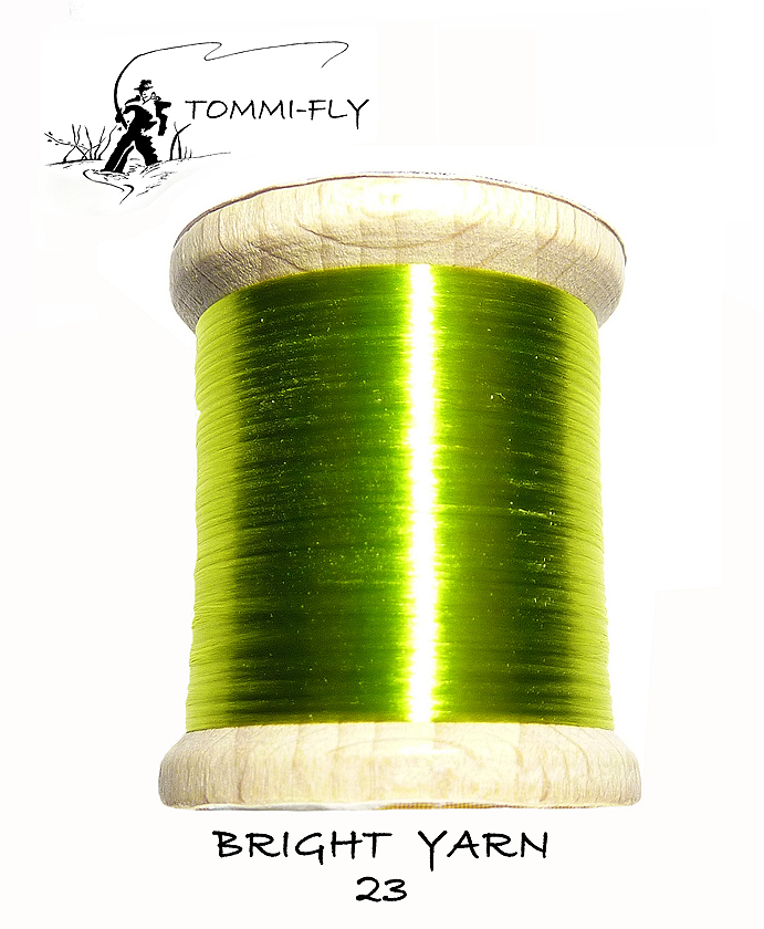 BRIGHT YARN - fluo zelená