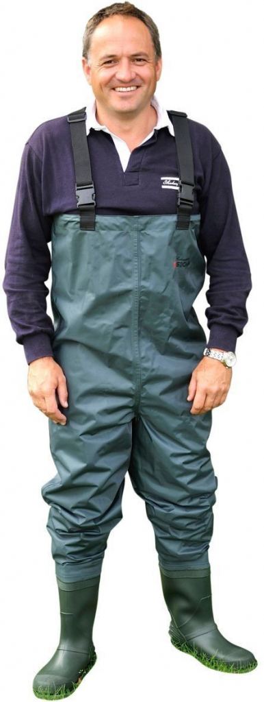 Shakespeare Prsačky Sigma Nylon PVC Chest Wader Cleated Sole