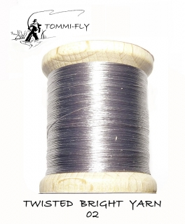 Twisted bright yarn - Světle šedá - TBY02